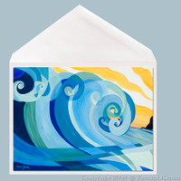 Swirl Beach Greeting Card by Tamara Kapan