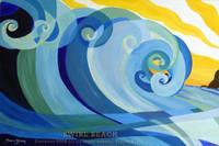 Original abstract wave painting by Tamara Kapan