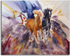 Western Themed Horse Decor Print by Dotty Reiman titled Tres Amigos