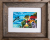 8 x 10 barn wood framed tropical watercolor print by Dotty Reiman