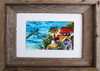 5 x 7 barn wood framed tropical watercolor print by Dotty Reiman