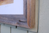 close up of barn wood frame