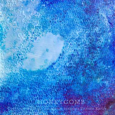 Wave Art Painting by Tamara Kapan titled Honeycomb