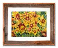 Original sunflower watercolor by Dotty Reiman