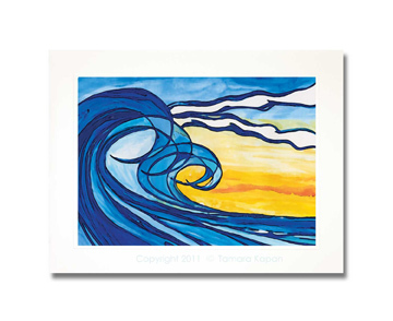 Original Abstract Wave Painting by Tamara Kapan titled Serendipity