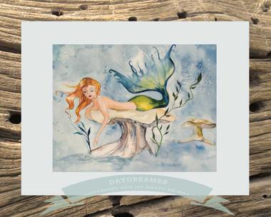 Mermaid Art by Dotty Reiman titled Daydreamer