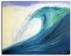 Blue Wave Art by Tamara Kapan