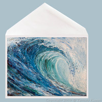 Frost wave art greeting card by Tamara Kapan