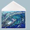 Gimme Shelter wave art greeting card by Tamara Kapan