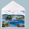The Cove greeting card by Dotty Reiman