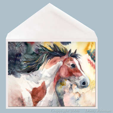 Pinto spirit horse greeting card by dotty reiman m4hsunfo