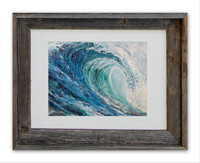 "8 x 10 inch wave art print titled ""Frost"" by Tamara Kapan in an 11 x 14 inch frame"