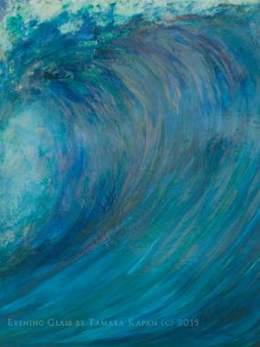Wave art painting titled Evening Glass by Tamara Kapan