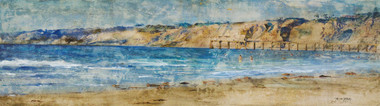 Summer in La Jolla painting by Tamara Kapan