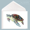Sea Tortoise greeting card by Dotty Reiman.  Card measures 5 x 7 inches.