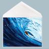 Blue Barrel Surfer Greeting Card by Tamara Kapan.  Greeting Card Measures 5x7 Inches.