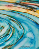 Liquid Glass Panel No. 3 measures 24 inches wide x 30 inches high x 1.5 inches deep.
