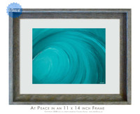 Wave art titled At Peace by Tamara Kapan  - 8 x 10 inch print framed into an 11 x 14 inch weathered grey frame