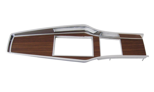 331-70 Mopar 1969-71 A-body Diecast Woodgrain 4 Speed Console Top Plate