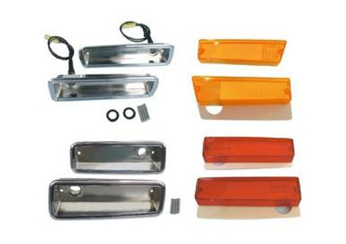 1215-70CHBLKIT Mopar 1970 Dodge Charger Side Marker Kit