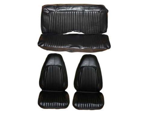 5502-BUK-C 1972 Barracuda Cuda Challenger Front Bucket & Rear Seat Cover