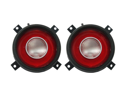 216-72L Mopar 1972-74 Plymouth Cuda Taillight Lenses (with Back-up Lens)