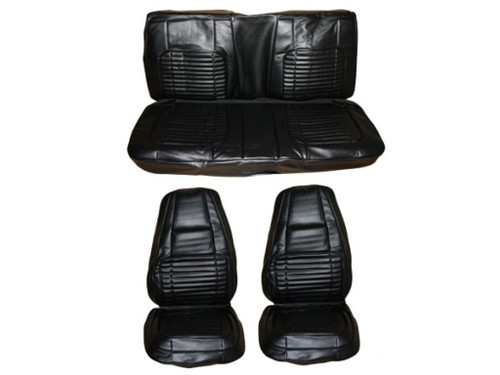 7703-BUK Mopar 1970 Charger 500 R/T Front Bucket Seat Rear Bench