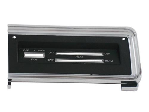 316-D68R Mopar 1967-69 Dodge Dart Standard Control Bezel (NO AC)