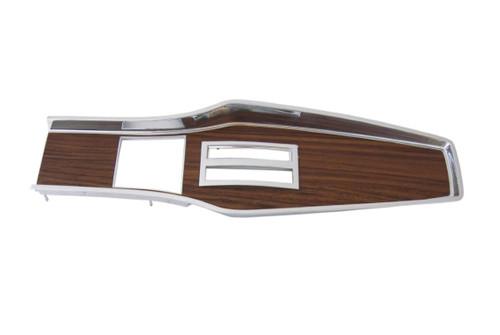 331A-70 Mopar 1969-71 A-body Diecast Woodgrain Console Top Plate