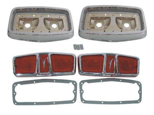 165F-64BLKIT Mopar 1964 Plymouth Fury Taillight Kit