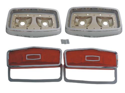 165-64BLKIT Mopar 1964 Plymouth Belvedere Taillight Kit