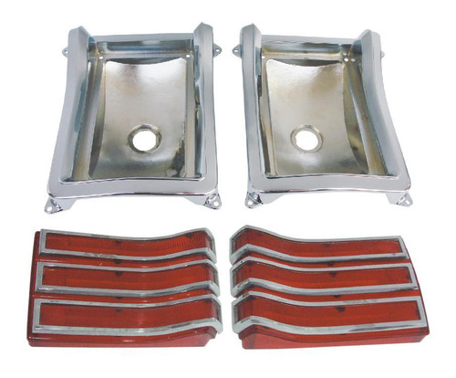 165-66BLKIT Mopar 1966 Plymouth Belvedere Taillight Kit