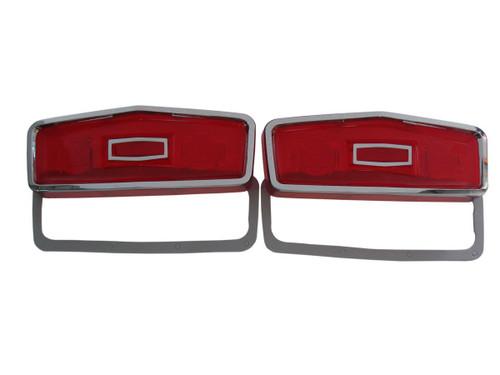 165-64L Mopar 1964 Plymouth Belvedere Taillight Lenses