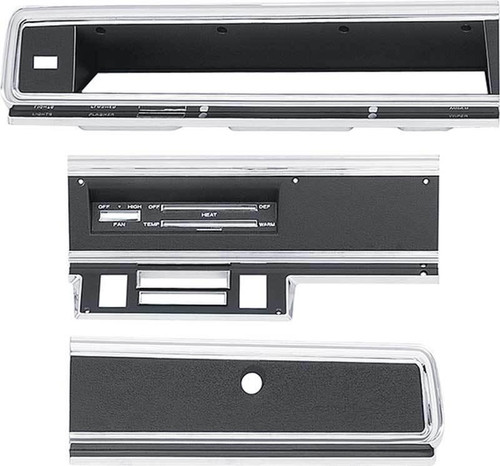 316-D67KIT Mopar 1967-69 Dodge Dart Dash Bezel Kit (no AC)