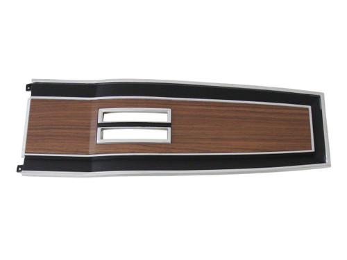 131A-70 Mopar 1969-70 B-body Diecast Woodgrain Console Top Plate