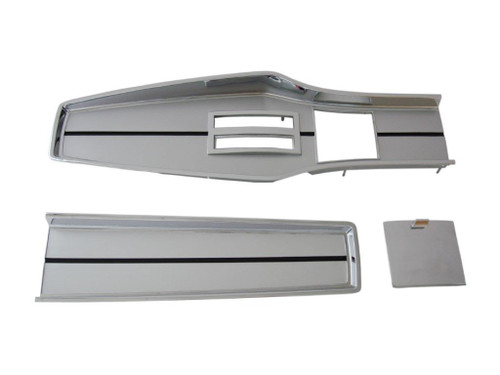 331A-6SET Mopar 1967-68 A-body Chrome Automatic Console Plate Kit