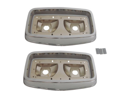 165-64B Mopar 1964 Plymouth Belvedere and Fury Taillight Bezels