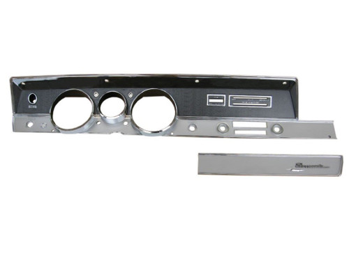 316-67KIT Mopar 1967 A-body Rallye Dash Bezel Kit (NO AC)
