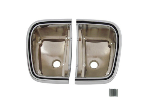 308-67TB Mopar 1967 Plymouth Barracuda Taillight Bezels
