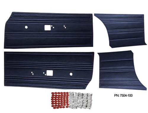 7504 Mopar 1969 Satellite Roadrunner Door Panel Front & Rear Set