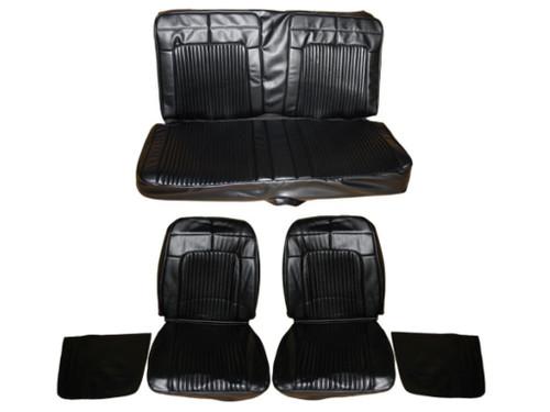 7702-BUK 1969 Coronet 500 R/T Front Bucket Seat Rear Bench