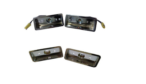 180-70BCSET Mopar 1970-71 Plymouth Chrome Side Marker Bezel Set