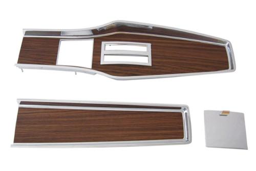 331A-70SET Mopar 1969-71 A-body Diecast Woodgrain Automatic Console Plate KitA