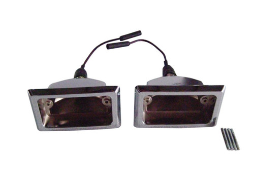 1305-66CH Mopar 1966-67 Dodge Charger and Coronet Back-Up Light Bezels