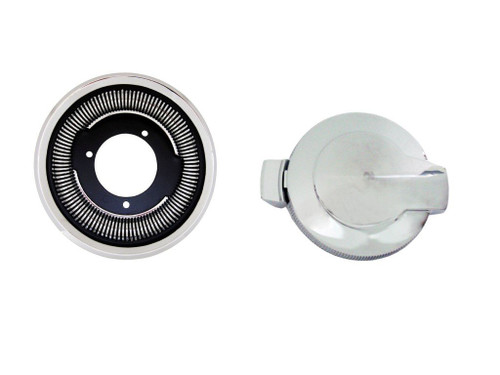 249-68KIT Mopar 1968 Barracuda and Charger Flip Flop Fuel Cap Set