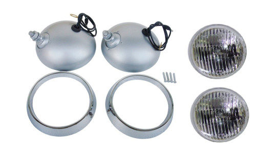 2209 Mopar 1970-71 Plymouth Cuda Road Lamp Housing, Bezel and Bulb Kit