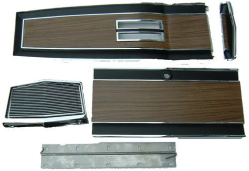 131A-70SET Mopar 1969-70 B-body Woodgrain Automatic Console Plate Kit