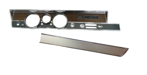 316-71KIT Mopar 1971 A-body Rallye Dash Bezel Kit (NO AC)