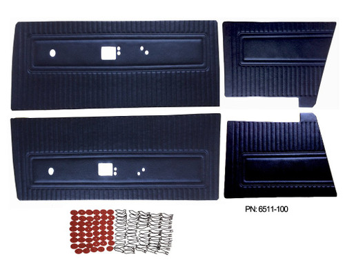 6511 Mopar 1971 Dart Swinger Scamp Door Panels Front & Rear Set