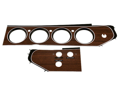 202-23SET Mopar 1972-74 E-body Rallye Dash Bezel Kit (3 Switch)